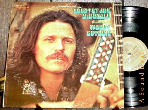 COUNTRY JOE MCDONALD OG'69 LP THINKING OF WOODY GUTHRIE