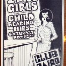TWO 2 NICE GIRLS Rare Texas folk '88 Club Cairo POSTER