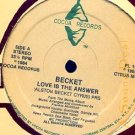 """BECKET DJ MIKEY JARRETT'86 COCOA 12"""" LOVE IS THE ANSWER"""