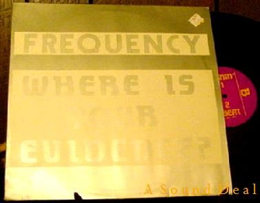 """FREQUENCY HTF '91 TECHNO 12"""" WHERE IS YOUR EVIDENCE? NM"""