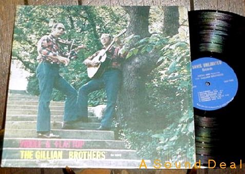 GILLIAN BROTHERS PRIVATE FIDDLE & FLAT TOP LP AUTOGRAPH