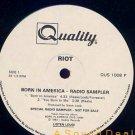 RIOT RARE '83 BORN IN AMERICA LP RADIO SAMPLER PROMO CA