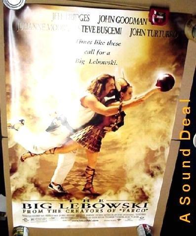 BIG LEBOWSKI '98 POSTER Jeff Bridges The Dude BOWLING
