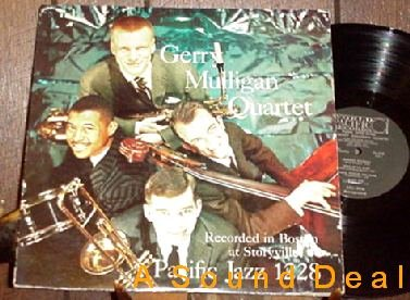 GERRY MULLIGAN PACIFIC JAZZ LP PARIS CONCERT