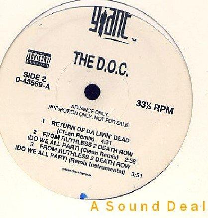 "THE D.O.C.'89 12"" DOC RETURN OF DA LIVIN' DEAD DJ REMIX"