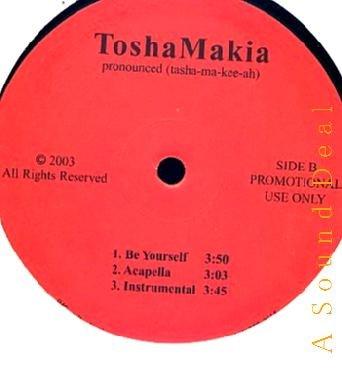 "TOSHA MAKIA RARE DJ WAX 12"" CALLING ME BE YOURSELF HEAR"