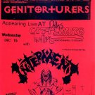 GENITORTURERS Texas '95 Gig Handbill Poster S&M Fetish