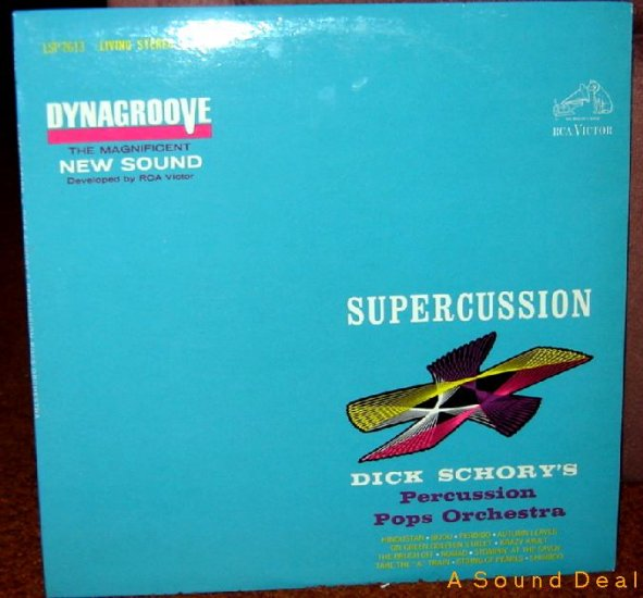 DICK SCHORY'S Percussion SUPERCUSSION LP OOP '63 LOUNGE