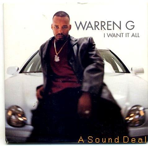 WARREN G '99 CD SINGLE I WANT IT ALL G-FUNK RAP WEST CO