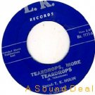 "TK HULIN Teardrops '62 LK 7""45 DEEP SOUL ASD HEAR"