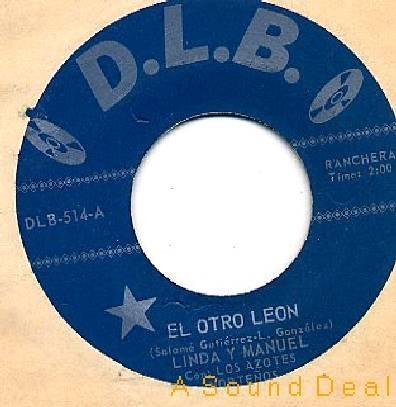 """LINDA Y MANUEL 196? DLB 7"""" EL OTRO LEON TEX-MEX TEJANO"""