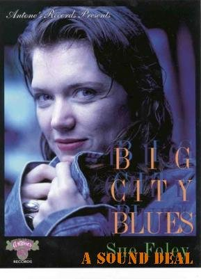 SUE FOLEY ANTONE'S TEXAS BIG CITY BLUES PR POSTER FLYER