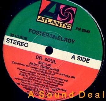 "FOSTER & MCELROY MC LYTE HARD TO FIND'89 DR SOUL DJ 12"""