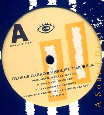 "GEORGE DARKO HTF '84 UK 12"" Highlife Time Ghana Guitar"