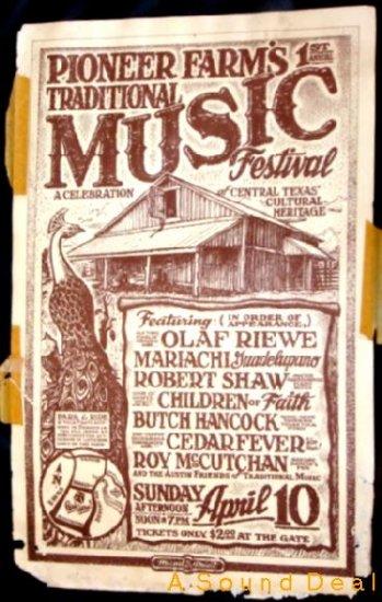 PIONEER FARM Trad'83 Poster BUTCH HANCOCK Micael Priest