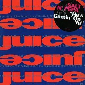 "SALT 'N' PEPA HTF '89 DJ JUICE 12"" HE'S GAMIN' ON YA"