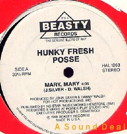 """HUNKY FRESH POSSE MARY MARY BEASTY RANDOM '88 12"""" BASS"""