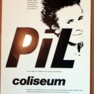 PIL Public Image Ltd Rare Texas'86 Concert POSTER Jagmo