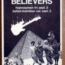 TRUE BELIEVERS Club Cairo Austin Texas '88 POSTER JAGMO
