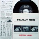"REALLY RED Modern Needs 7""45 PS Rare Texas '80 Punk KBD"