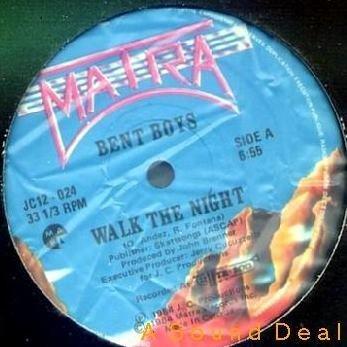 "BENT BOYS Walk the Night 12"" HI-NRG disco '84 HEAR"