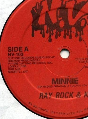 "RAY ROCK & KC Minnie 12"" oldskool '86 electro rap HEAR"