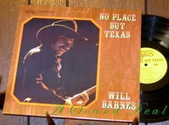 WILL BARNES No Place But Texas LP Armadillo '70s Outlaw