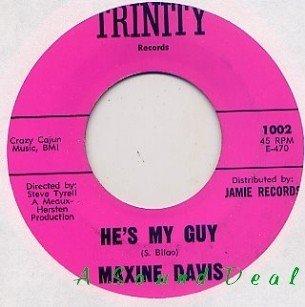"""MAXINE DAVIS He's My Guy 7"""" 45 northern soul TRINITY"""