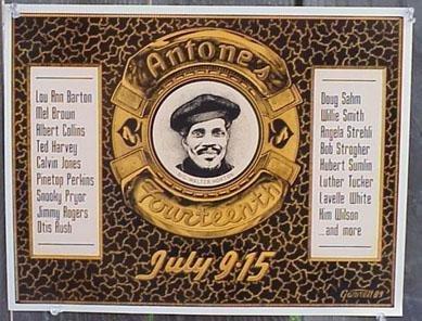 BIG WALTER HORTON Albert Collins Doug Sahm blues POSTER