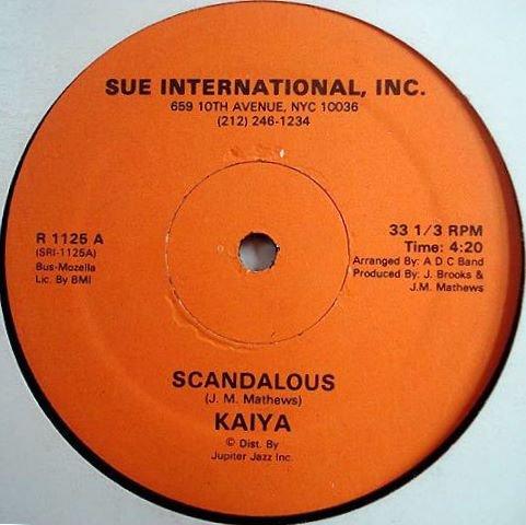 "KAIYA Scandalous 12"" RARE modern soul HEAR private SEAL"