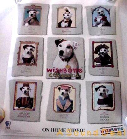 WISHBONE Orig '95 PBS Kids POSTER Jack Russell Terrier