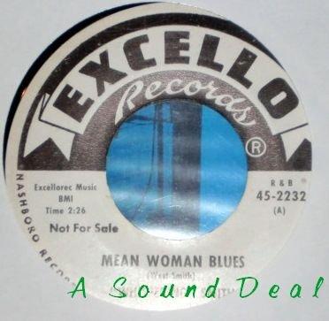 "WHISPERING SMITH Mean Woman Blues 7"" 45 promo dj harp"