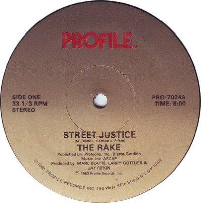 "RAKE Street Justice 12"" SEALED'83 oldskool electro HEAR"