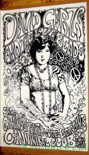 DAVID GARZA & LOVE BEADS Texas '91 Cannibal Club POSTER