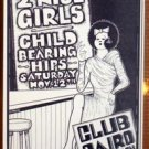 TWO 2 NICE GIRLS Rare Texas folk '88 Club Cairo POSTER Austin