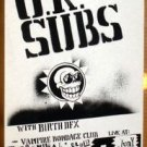 UK SUBS Texas '92 Cannibal Club POSTER U K punk Oi! Austin Texas concert gig