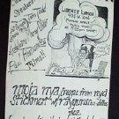 STICKMEN with RAYGUNS '84 Bobby Soxx Poster Ronald Reagan punk kbd Austin Texas