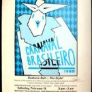 CARNAVAL Brasilero 1980 Poster Guy Juke RARE Signed Texas Mardis Gras Houston