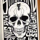 STATE OF MIND Coffee Seargants gig POSTER Cannibal Club Austin Texas 1990 skull