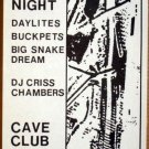 BUCK PETS Daylites Cave Club POSTER Rare 1987 Frank Kozik Austin Texas punk hear
