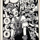 JOE ROCKHEAD funk POSTER Bob Schneider CARMEN MIRANDA '91 Cannibal Club Texas