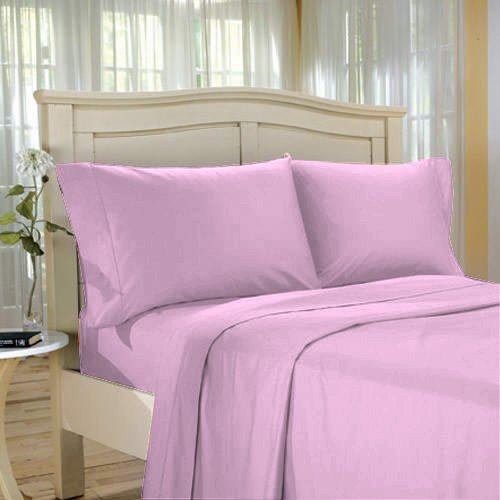 1000 TC KING Solid Lilac EGYPTIAN COTTON 4-PC SHEET SET