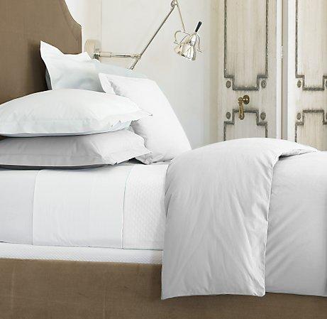 1000 tc full size white color solid sheet set