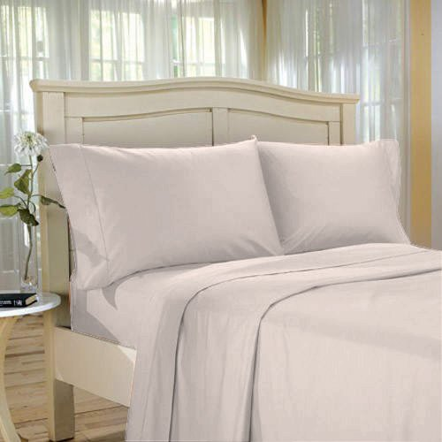 QUEEN SHEET SET TAUPE 1000TC EGYPTIAN DAMASK STRIPE!