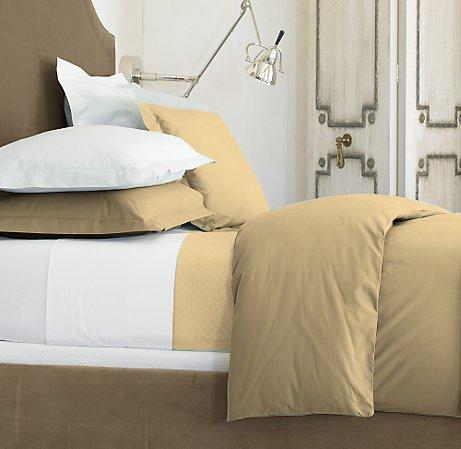 Egyptian 1200 TC FULL Dark Beige Light Brown Sheet Set