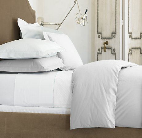 1500 TC Queen White Solid Egyptian Cotton Sheet Set