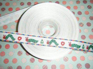 hungry catepillar themed ribbon 5 yards~FREE SHIPPING