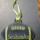 Seahawks blue green football ornament *FREE SHIP*