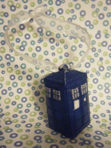 blue box ornament 3D *free ship*