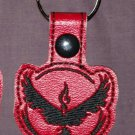 Team valor red keychain fob